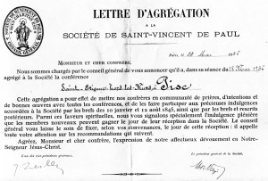 Lettera fondazione S.Vincenzo