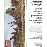 Apello per i terremotati del Nepal