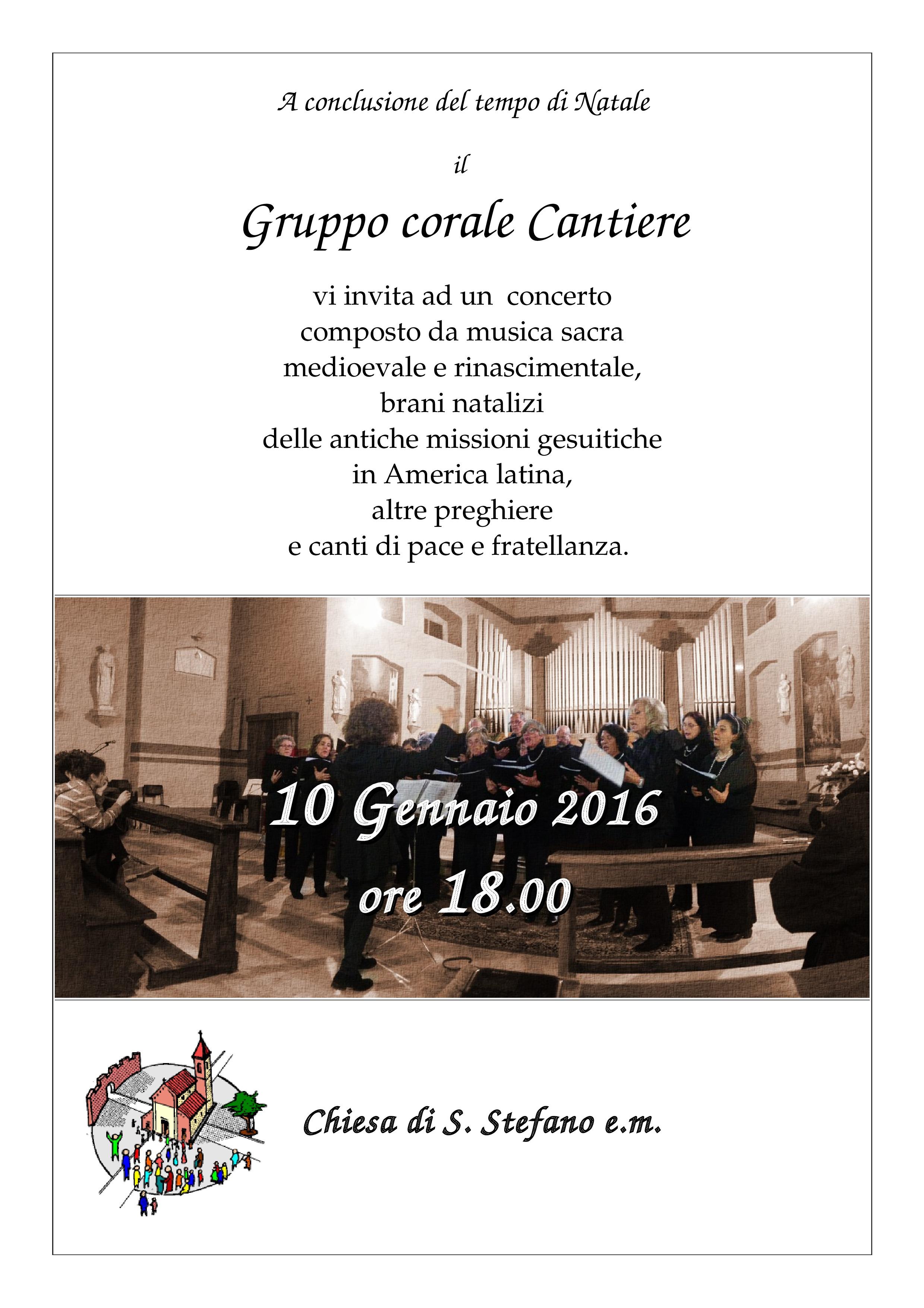 Concerto del Gruppo corale Cantiere