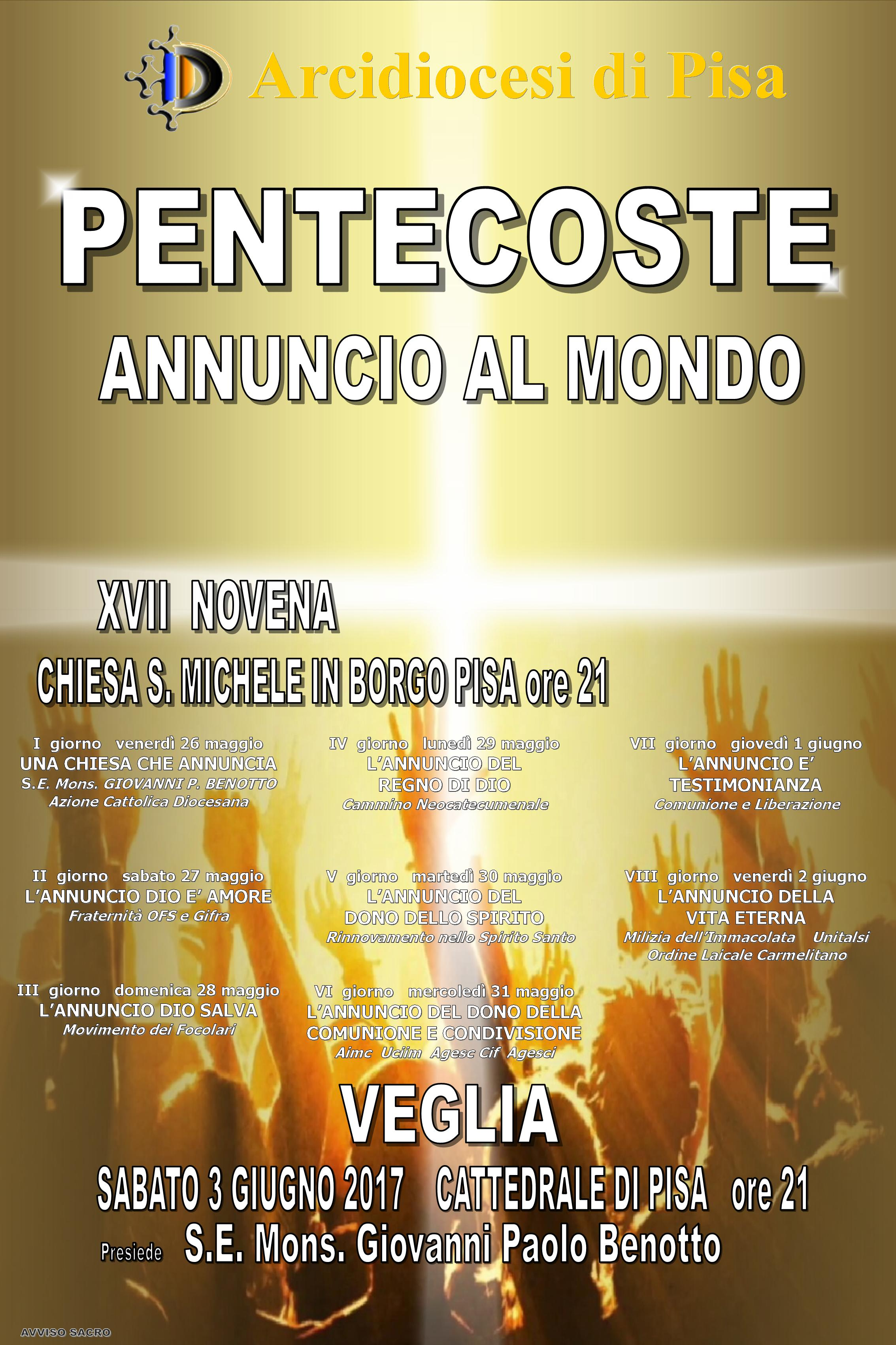 Novena di Pentecoste 2017