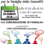 Un incontro per tutte le famiglie della Comunità