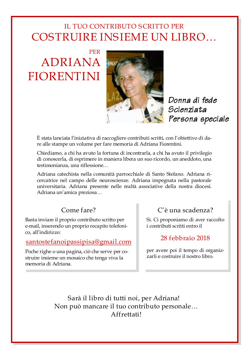 Testimonianze per Adriana Fiorentini