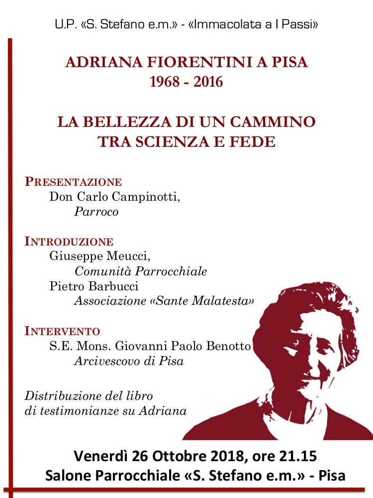 """Presentazione del libro """"Adriana Fiorentini a Pisa"""""""