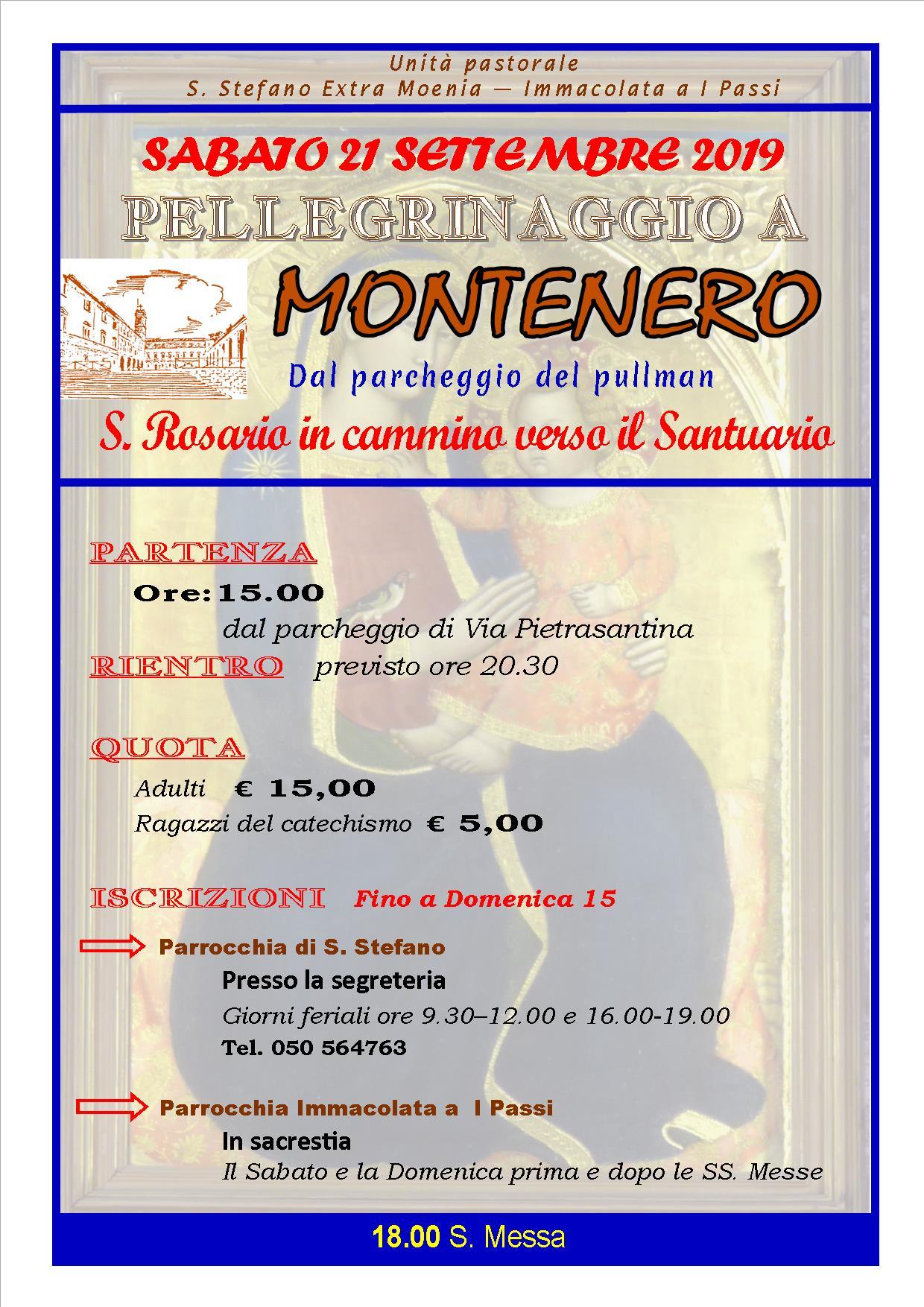Pellegrinaggio a Montenero 2019