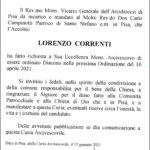 Una bella notizia: il Diaconato di Lorenzo