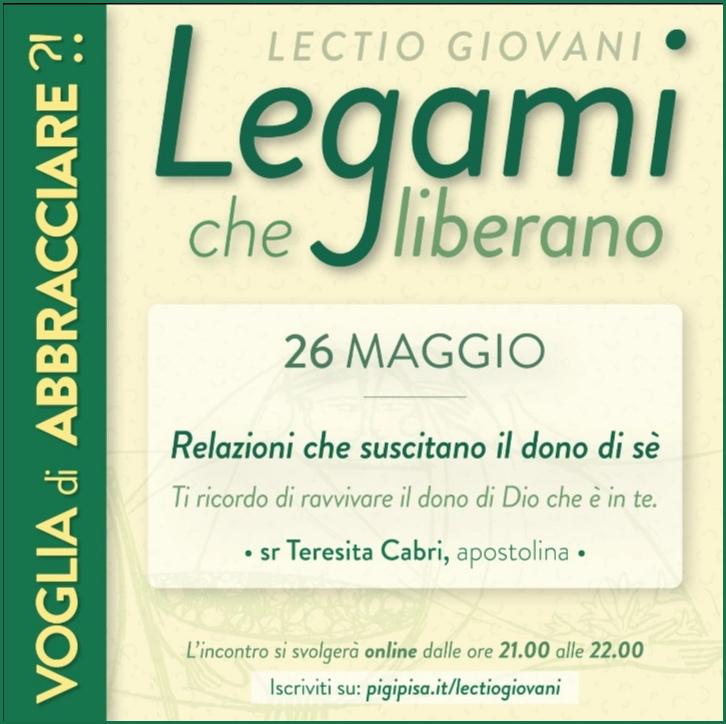 Lectio Giovani 26 Maggio