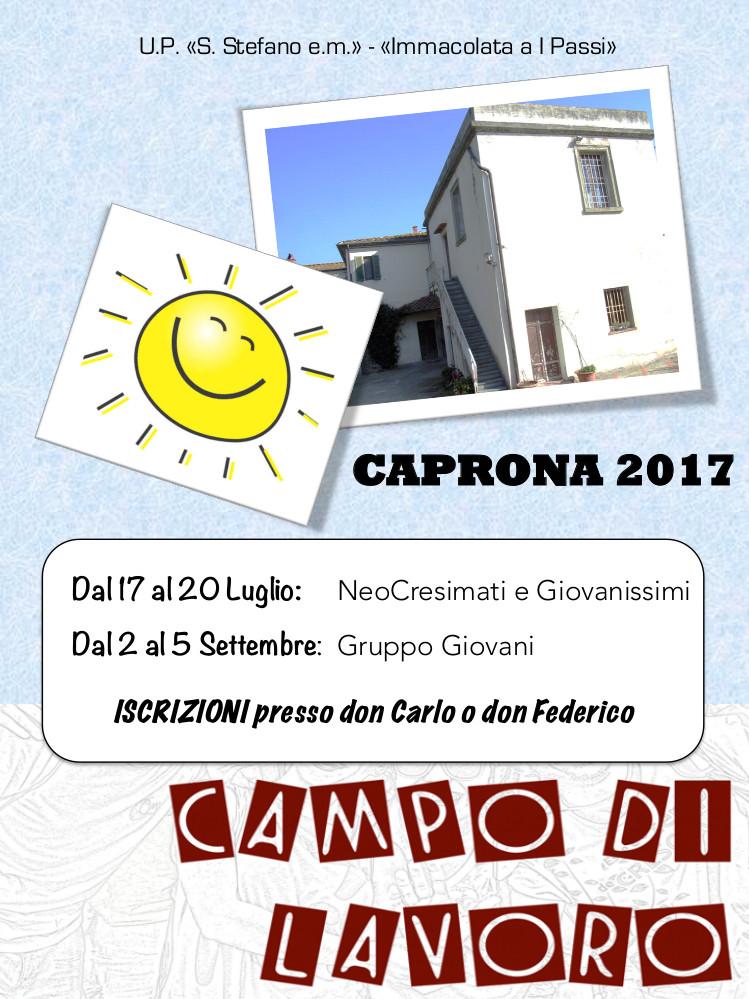 Campo di lavoro 2017 a Caprona