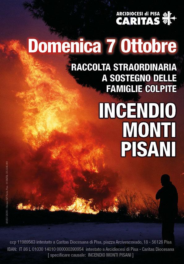 Colletta: Incendio Monti Pisani