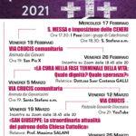 Appuntamenti Quaresima 2021