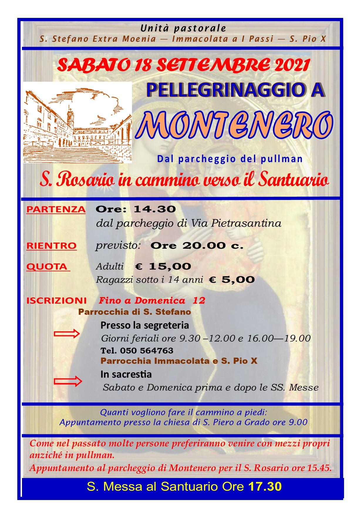 Pellegrinaggio a Montenero 2021